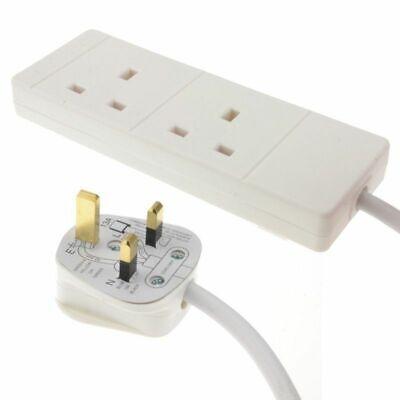 2 Way UK 13Amp Extension Lead, Standard Reel – 2 Gangs & 1 Meter Cable 2