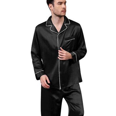 Mens Silk Satin  Pajamas - PJ Set  Top and Bottom 8