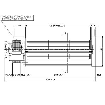 Ventola tangenziale per stufa a pellet EDILKAMIN IRIS cod 284870 CHIAMA X SCONTO 3