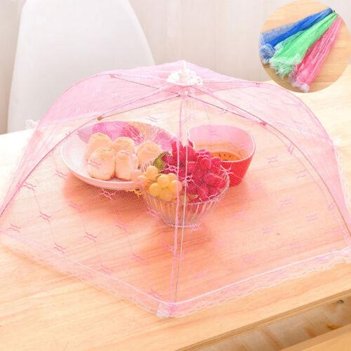 3x Anti Fliegen Moskito Gaze für Tisch Essen Abdeckung Lebensmittel Netze Cover