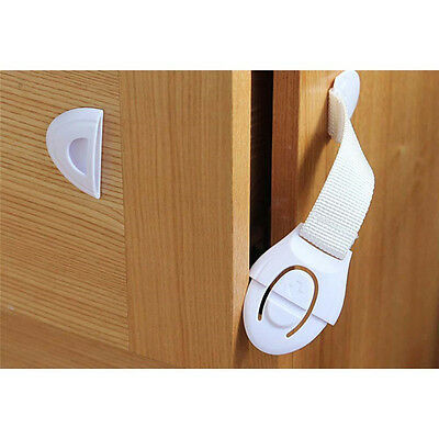 1-10x Child Children Baby Kids Drawer Door Cabinet Cupboard Toddler Safety Locks 10