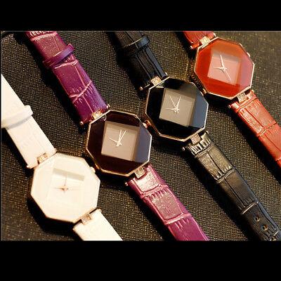 New Fashion Women 's Leather Band Analog Quartz Diamond Wrist Watch Watches 6