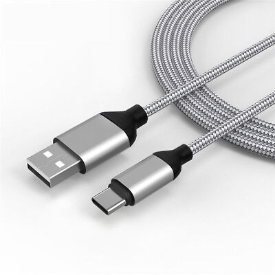 0.3/1/2/3M Nylon Braided USB-C Type C Data Sync Fast Charging Charger Cable Cord 5