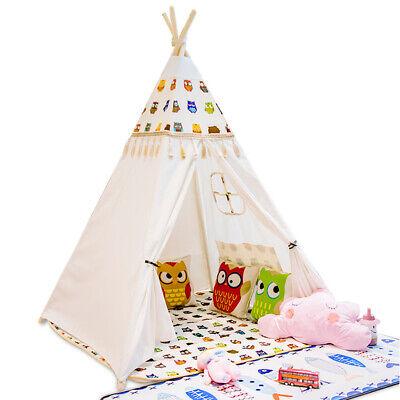 New Kids Teepee wigwam childrens play tent childs garden indoor toy 5' Canvas UK 8