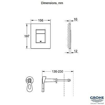GROHE 38773 000 Rapid SL 3 in 1 WC Set incl. 0.82m Concealed Frame and Cistern