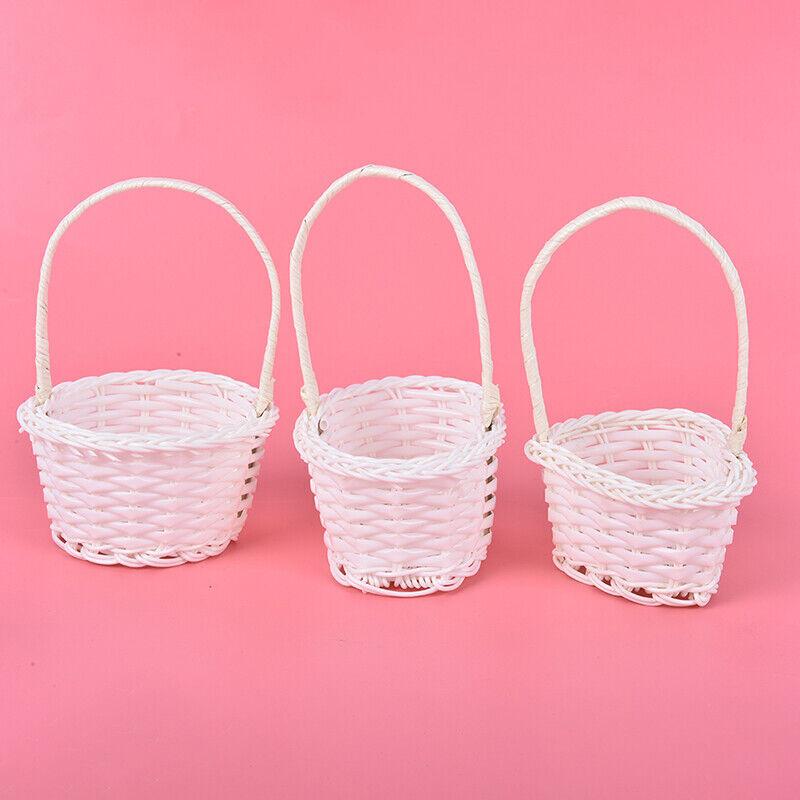 Mini Artificial Basket Woven Bamboo Basket Wood Crafts Hat 100 /% Handmade w 8cm