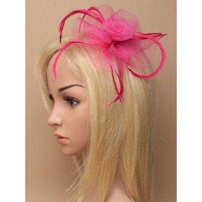 Feather Looped Headband Alice Band Fascinator Ladies Day Wedding Royal Ascot 15 3