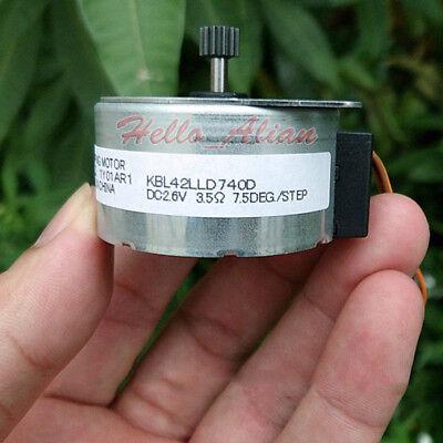 Japan OKI 42mm Round 2 Phase 4 Wire Stepper Motor 7.5 degree for Printer Copier 5