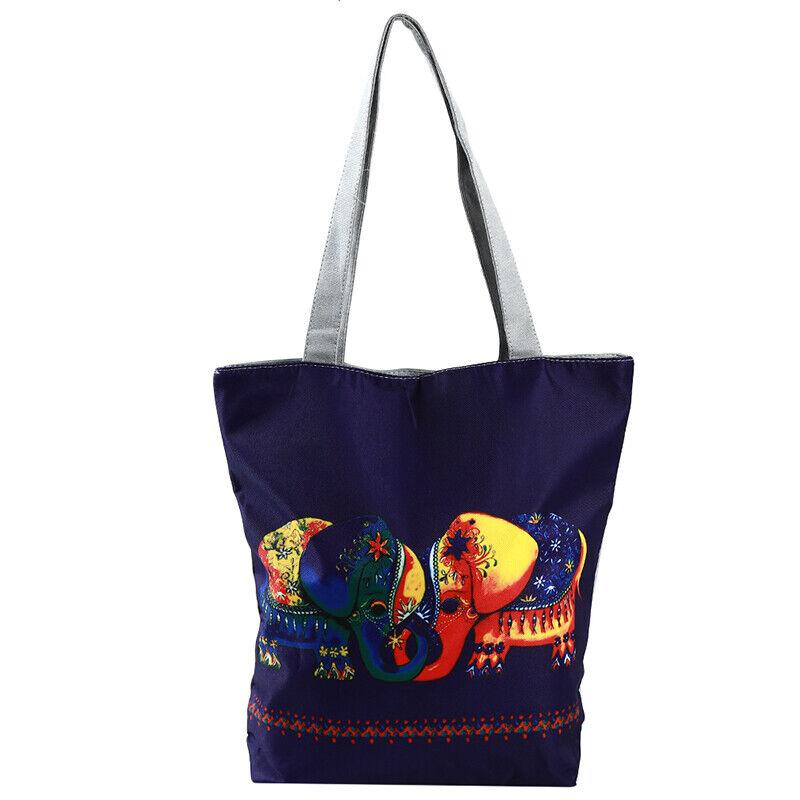 Handbag Elephant Printed Tote Casual Beach Bags Shoulder Shopping Casual JJ 3
