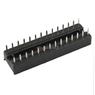 100PCS 28-Pin 28P Narrow DIP IC Sockets Adaptor Solder Type Socket 2.54mm Pitch 2