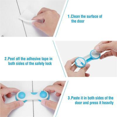 Child Safety Locks Cupboard Baby Proof Cabinet Drawer Kitchen Toilet Seat Straps 7