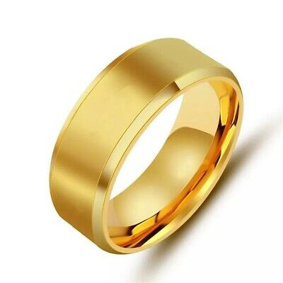 Titanium Stainless Steel 8mm Brushed Finish Men Women Wedding Band Spinner Ring 5