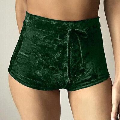 ... Femmes Chaudes Élastique Velours Écrasé Extensible Taille Haute Sport  Shorts Bas 12 bd4a5246fcd