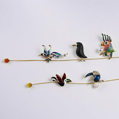 Fashion Brooch Pin Animal Bird Crystal Pearl Enamel Women Wedding Jewelry Gift 8