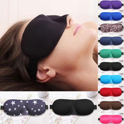 3D Weich Schlafmaske Reise Rest Schlaf Schlafbrille Augenmaske Augenbinde Neu 2