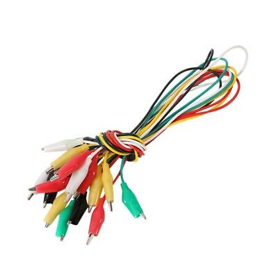 Crocodile Test Double End Clamp Wire For Testing Roach Clip Jumper Cable 4