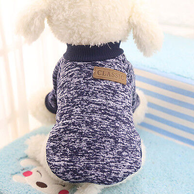 Cotton Pet Cat Dog Jacket Winter Clothes Small Puppy Doggie Sweater Coat Apparel 5
