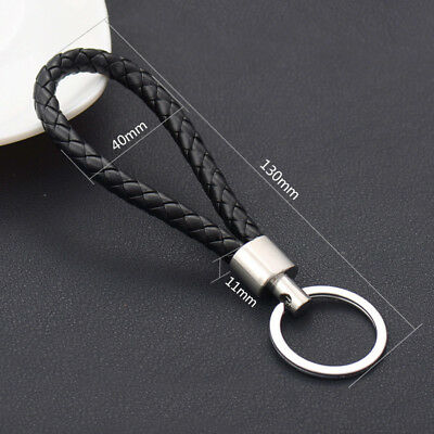 Cool Mens Leather Key Chain Ring Holder Keyfob Car Keyring Keychain Pendant Gift 3