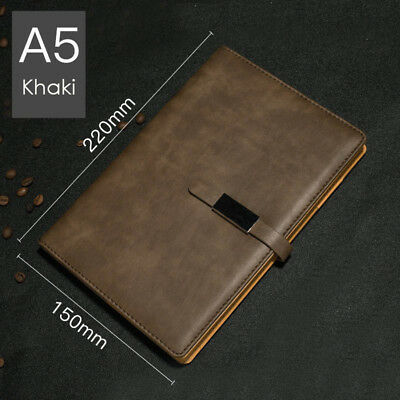 A5 PU Leather Vintage Journal Notebook Lined Paper Diary Planner with Buckle 12
