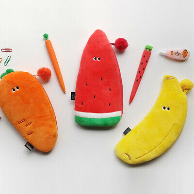 Funny Vegetables Soft Plush Type Pencil case Pen Bag Stationery Tavel Organizer 3