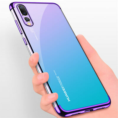 For Huawei P Smart 2019/ P30 P20 Lite Pro Plating Silicone Hybrid Case Cover 7