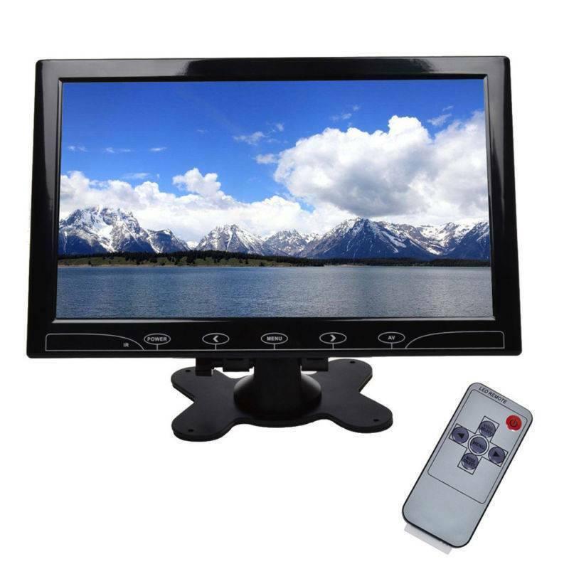"10"" Inch TFT LED Screen CCTV Surveillance Monitor AV/VGA/HDMI Input & Speaker UK 2"