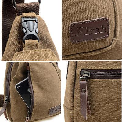 Men's Small Chest Sling Bag Travel Hiking Cross Body Messenger Shoulder Backpack 8