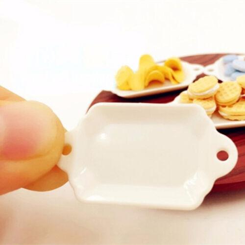33pcs/Set Dollhouse Miniature Tableware Plastic Plate Dishes Set Mini Food 2017 10