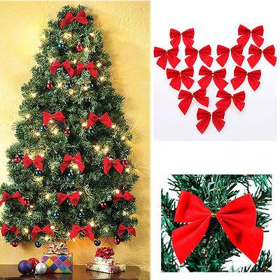 Weihnachtsbaum Rot Silber.24stk Schleifen Weihnachtsbaum Deko 6cm Xmas Geschenk Gold Silber Rot 2016
