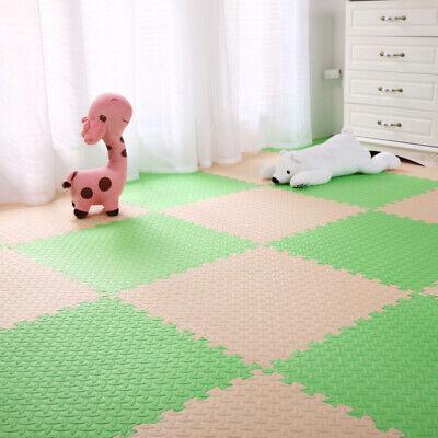4 Tiles Home Yoga Gym Fitness Interlock EVA Foam Floor Mat Puzzle Baby Kids Play 8