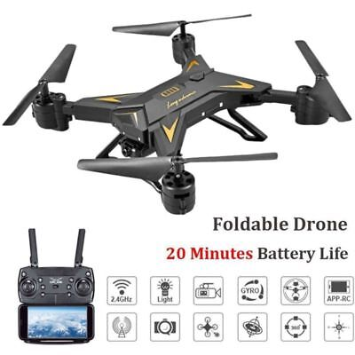 Helicopter Quadcopter Drone 5MP 1080P HD WIFI Camera REAL TIME RC FPV + Batteria 2