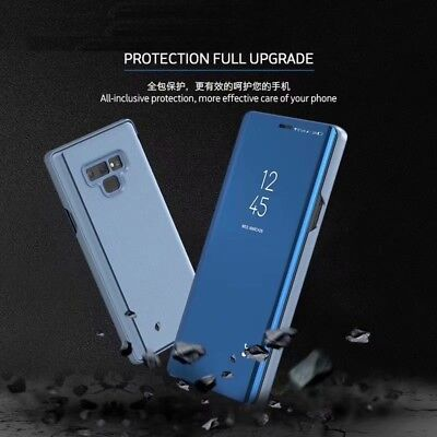 Mirror Flip Case Smart Stand Cover for Samsung Galaxy Note 10 Plus S7 S8 S9 S10+ 2