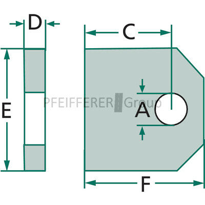 Hydraulik Type AS-A Auge Anschweißauge AA Ø16,2 f. Zylinder