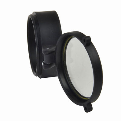 Rifle Scope Quick Flip Spring Up Open Gun Lens Cover See-thru Objective Cap 6