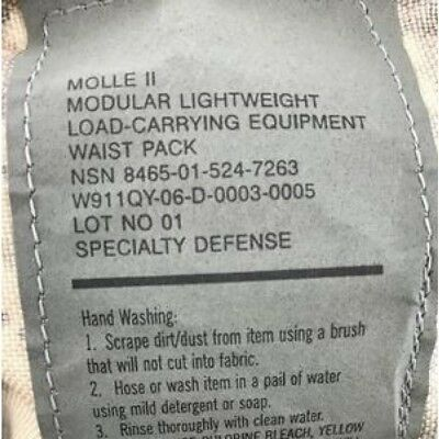 Lot of 2 MOLLE II Waist Pack Butt/Fanny Hip Bag ACU US Military VGC EXCELLENT 7