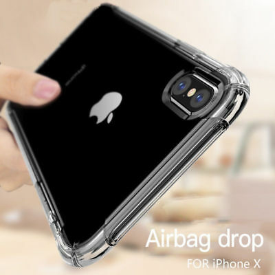 Antichoc Silicone TPU renforcé Coque Pour iPhone XR XS Max 2018 8 7 Plus 6s Plus 8