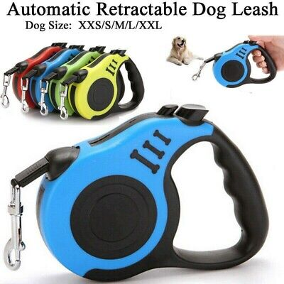 Dog Leash Retractable Walking Collar Automatic Traction Rope Small Pet 10FT 16FT 3