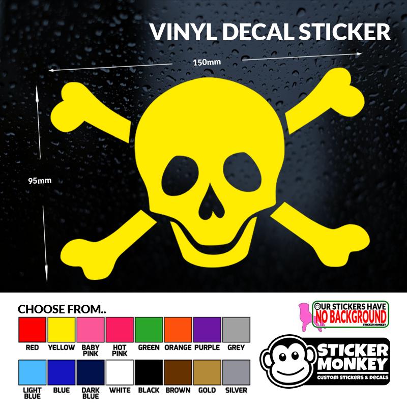 SKULL /& CROSSBONES PIRATE VINYL DECAL STICKER CAR//VAN//WALL//DOOR//LAPTOP//WINDOW