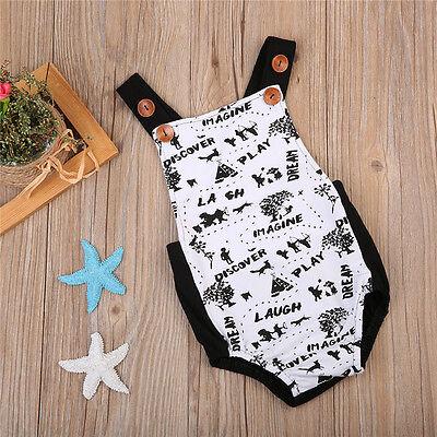 AU Stock Toddler Baby Boy Girls Graffiti Romper Bodysuit Jumpsuit Outfits Summer