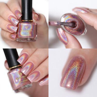 6ML BORN PRETTY Holographic Nail Polish Pink Holo Super Shiny Nail ...