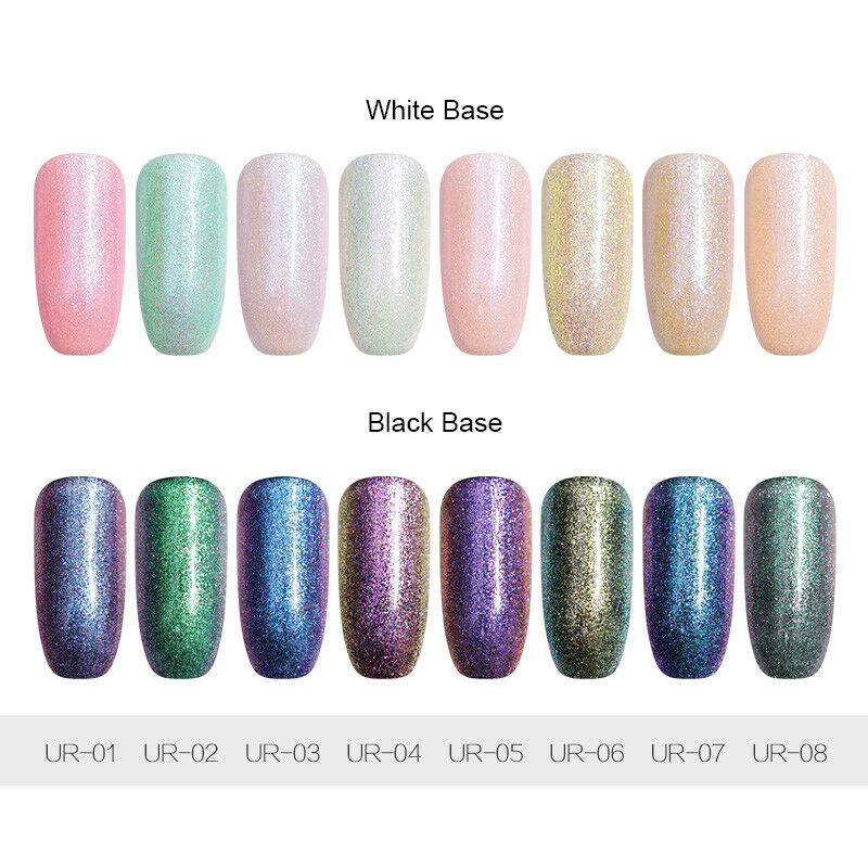 7.5ml UR SUGAR  Glitter Soak Off UV Gel Polish Nail Art Chameleon Varnish 2