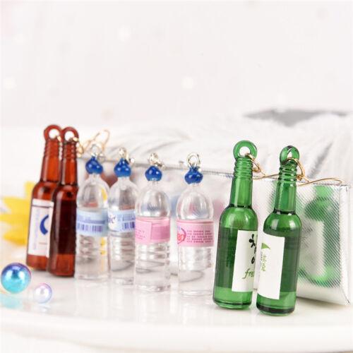 Boucles d/'oreilles bouteille d/'eau minérale long pendentif bouteille de bière