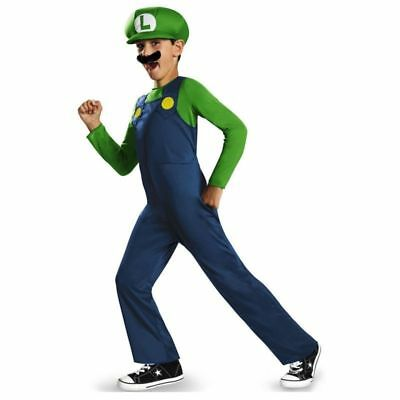 Mens Boy Kids Adult Super Mario Luigi Brothers Costumes Hat Fancy Party 9