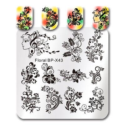 BORN PRETTY Nail Art Stamping Stamper Raschietto Piastra Plate Immagine 8
