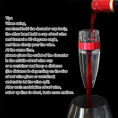 Pour Spout Unique Decanter Essential RED Wine Mini Quick Aerator Filter pouch 11