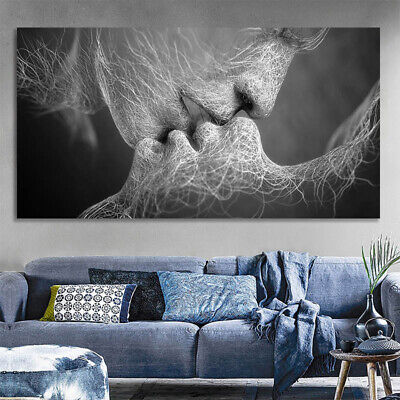 Abstract Wall Art Painting Love Kiss Poster Wall Pictures Print Home Decoration 2
