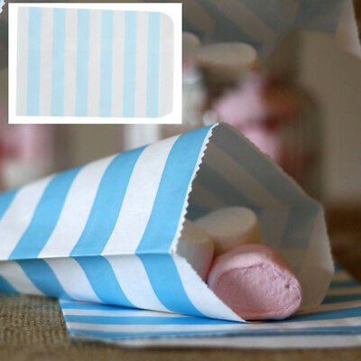 12pcs Candy Stripe Paper Bags Sweet Favour Buffet Gift Party Sweets Cake Wedding 11
