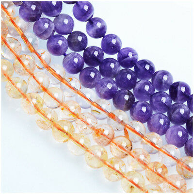 Wholesale Natural Gemstone Round Spacer Loose Beads For Bracelets Jewelry Making 4