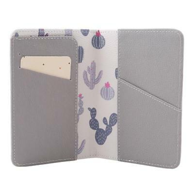 Animals Flower Faux Leather Passport Holder Cover Travel Wallet Organize Bag BS 12