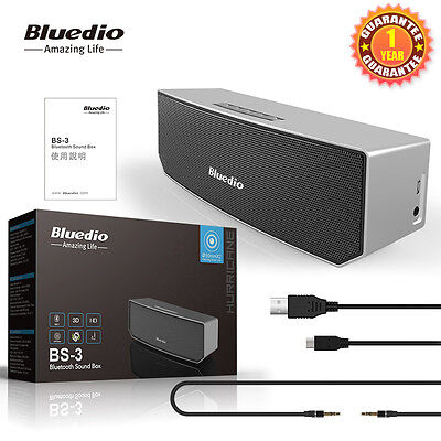 Bluedio BS-3 Bluetooth Wireless Stereo Speakers Portable Outdoor Speakers,PC/IOS 8